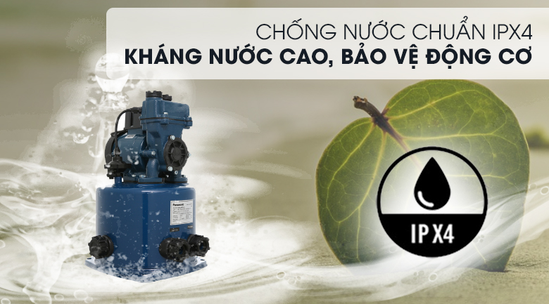 Máy bơm nước tăng áp Panasonic A-130JTX 125W - Chống nước chuẩn IPX4