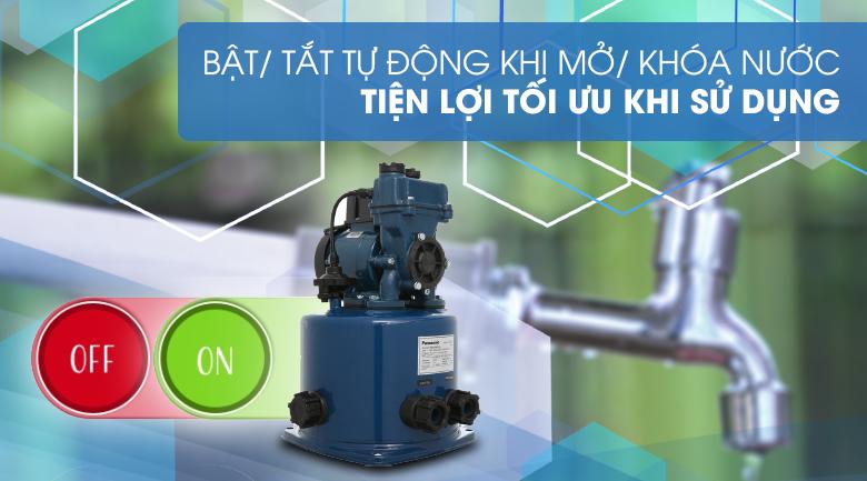 Máy bơm nước tăng áp Panasonic A-130JTX 125W - Tiện lợi với hệ thống đóng/ ngắt tự động