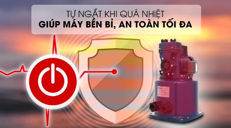 Máy bơm nước tăng áp Panasonic A-130JTX 125W - An toàn tối đa với tính năng tự ngắt khi nhiệt độ bơm cao trên 130⁰C