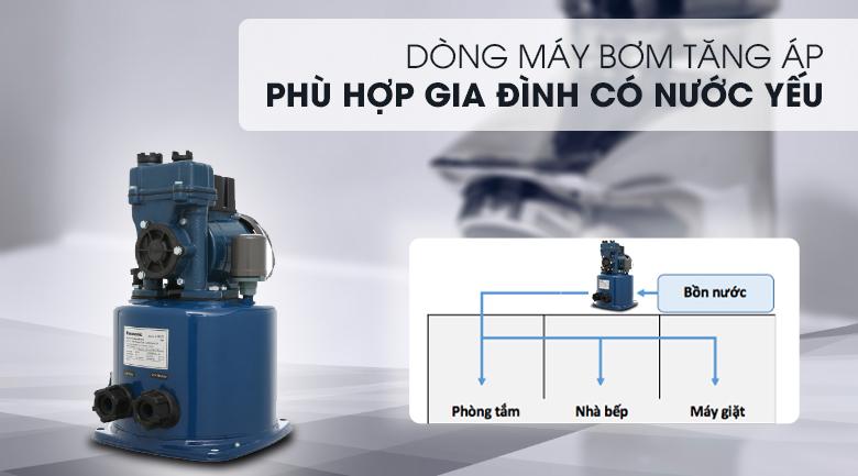 Máy bơm nước tăng áp Panasonic A-130JTX 125W - Thuộc dòng máy bơm tăng áp, phù hợp cho nhà có nước yếu