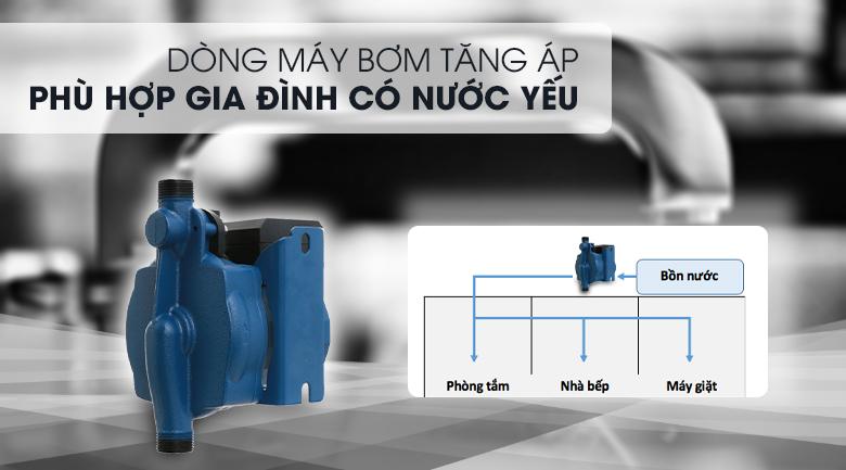 Thuộc dòng máy bơm tăng áp, phù hợp cho nhà có nước yếu - Máy bơm nước tăng áp Kangaroo KG 180ZP 180W
