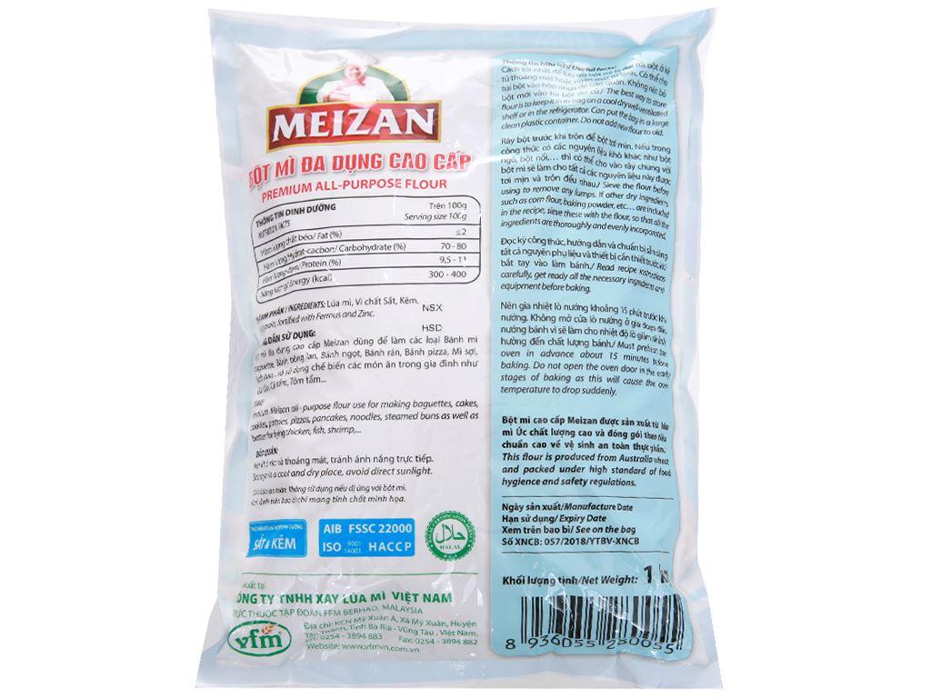 Bột mì đa dụng Meizan cao cấp túi 1kg 2