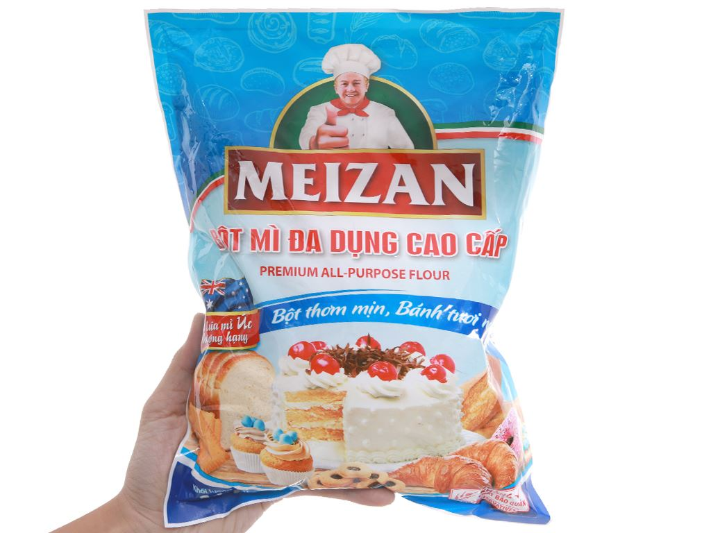 Bột mì đa dụng Meizan cao cấp túi 1kg 4
