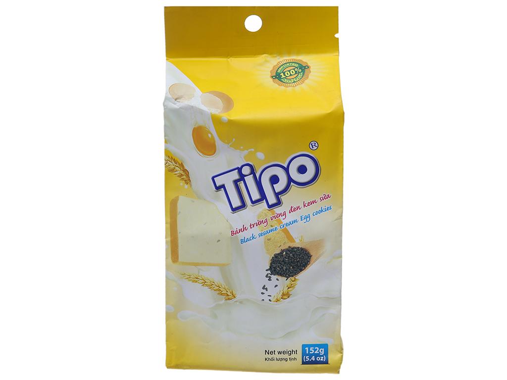 Bánh trứng vừng đen kem sữa Tipo gói 152g 1