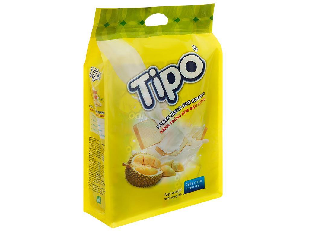 Bánh trứng kem sầu riêng Tipo gói 220g 1