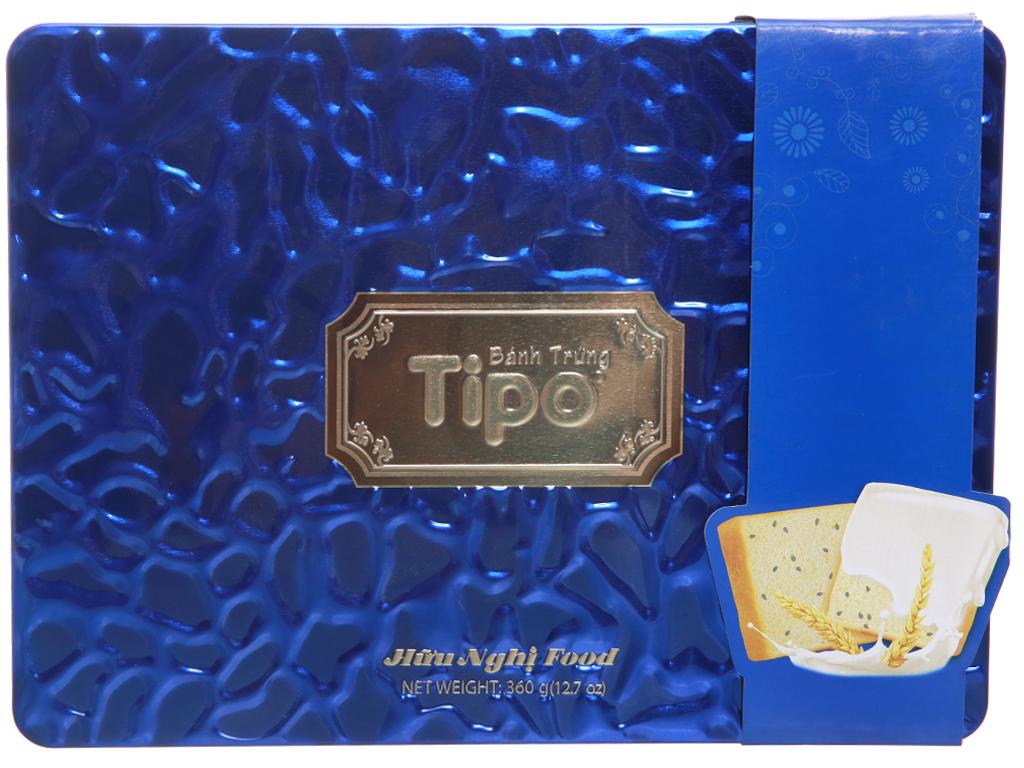 Bánh trứng vừng đen kem sữa Tipo hộp 360g 2