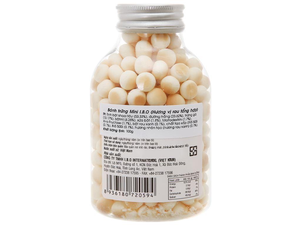 Bánh trứng mini hương rau tổng hợp I.B.O hũ 100g 2