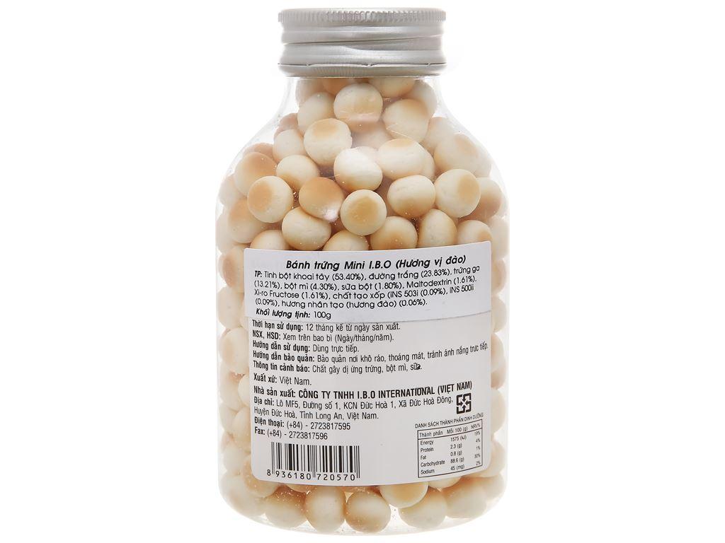 Bánh trứng mini huơng đào I.B.O hũ 100g 2