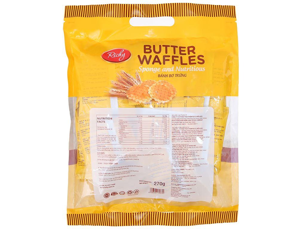 Bánh bơ trứng Butter Waffles Richy gói 270g 2