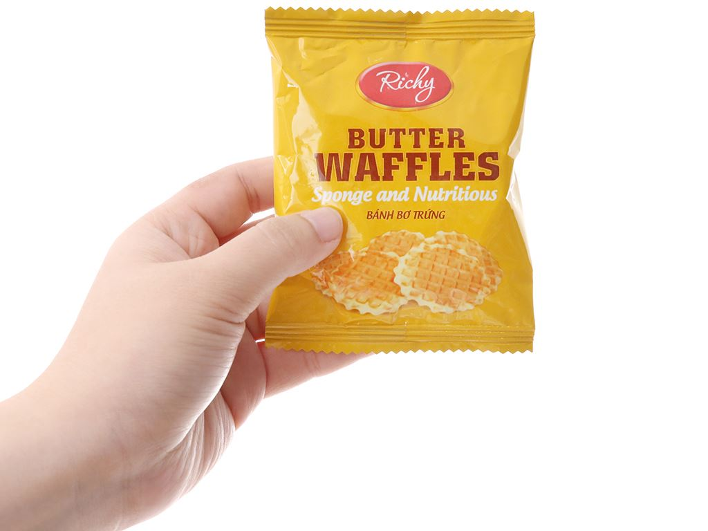 Bánh bơ trứng Butter Waffles Richy gói 270g 3
