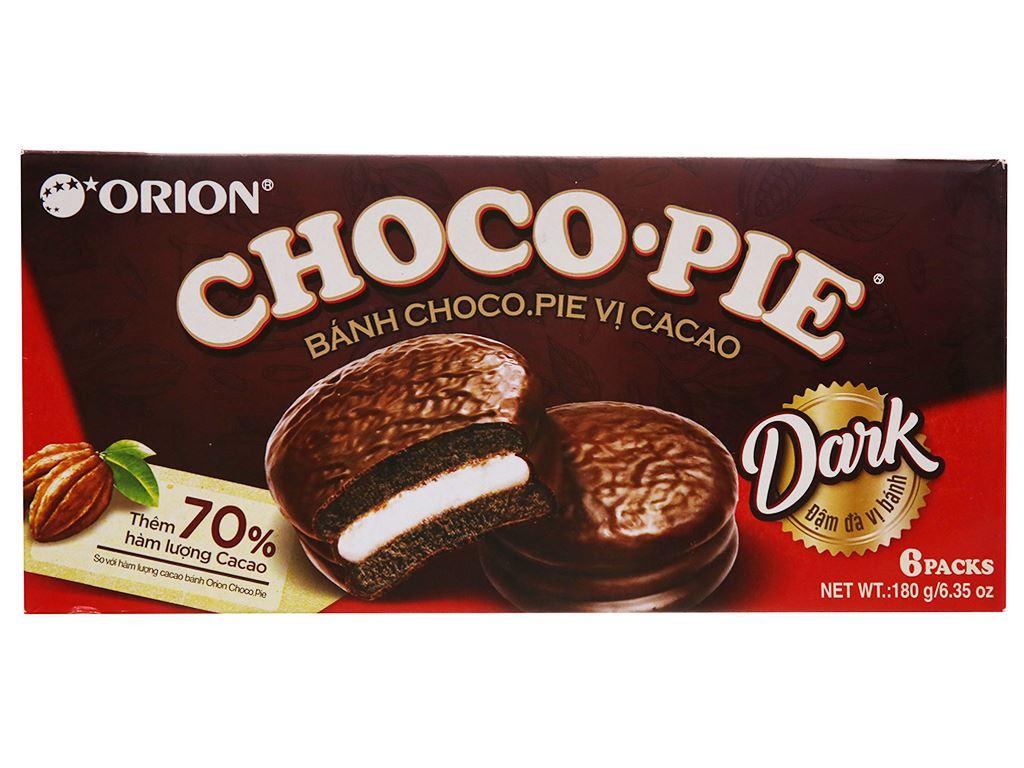 Bánh vị ca cao Choco-pie Dark hộp 180g (6 cái) 1