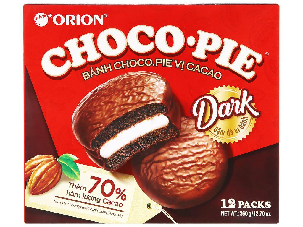 Bánh vị ca cao Choco-pie Dark hộp 360g (12 cái) 4