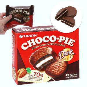 Bánh vị ca cao Choco-pie Dark hộp 360g (12 cái)