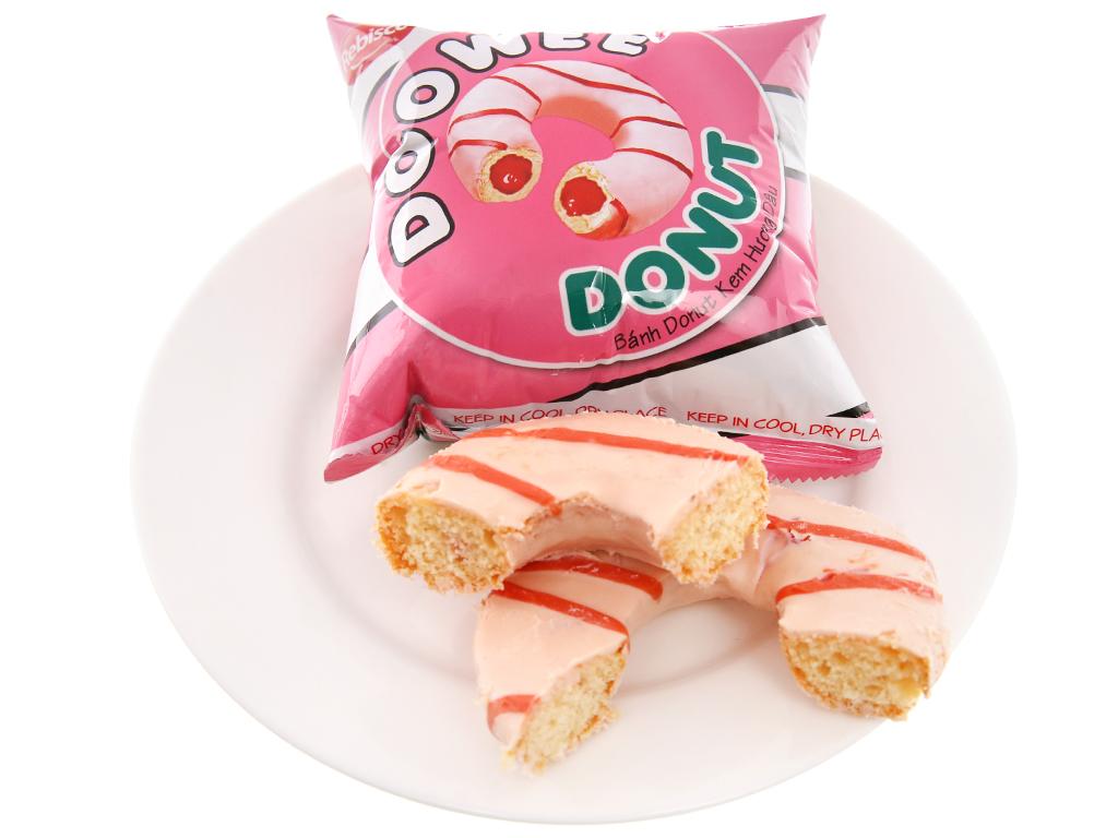 Bánh donut kem hương dâu Doowee Donut hộp 300g (10 cái) 4