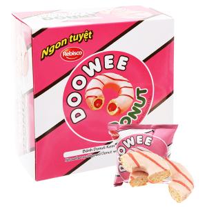 Bánh donut kem hương dâu Doowee Donut hộp 300g (10 cái)