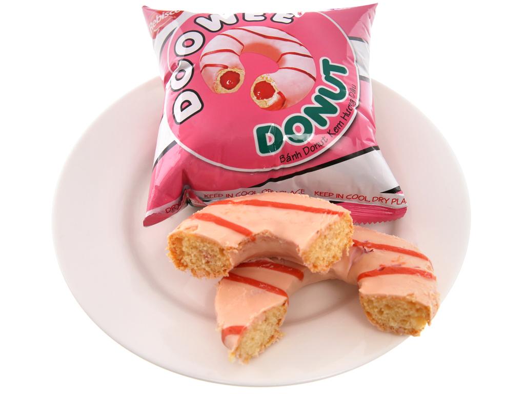 Bánh donut kem hương dâu Doowee Donut hộp 150g (5 cái) 4