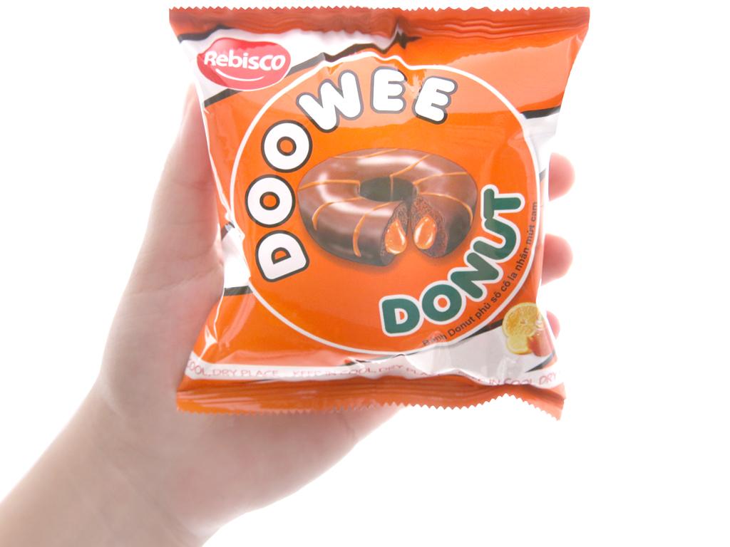 Bánh donut phủ sô cô la nhân mứt cam Doowee Donut gói 360g (12 cái) 3