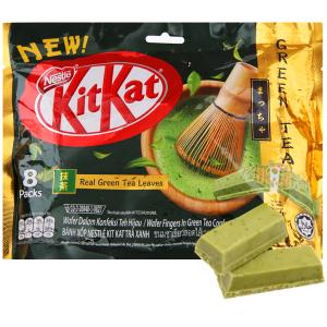 Bánh xốp phủ trà xanh KitKat gói 136g