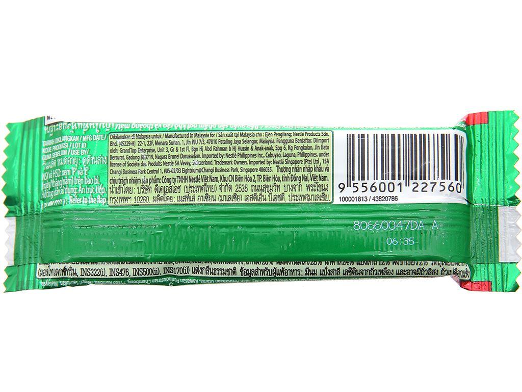 Bánh xốp phủ trà xanh KitKat thanh 17g 2