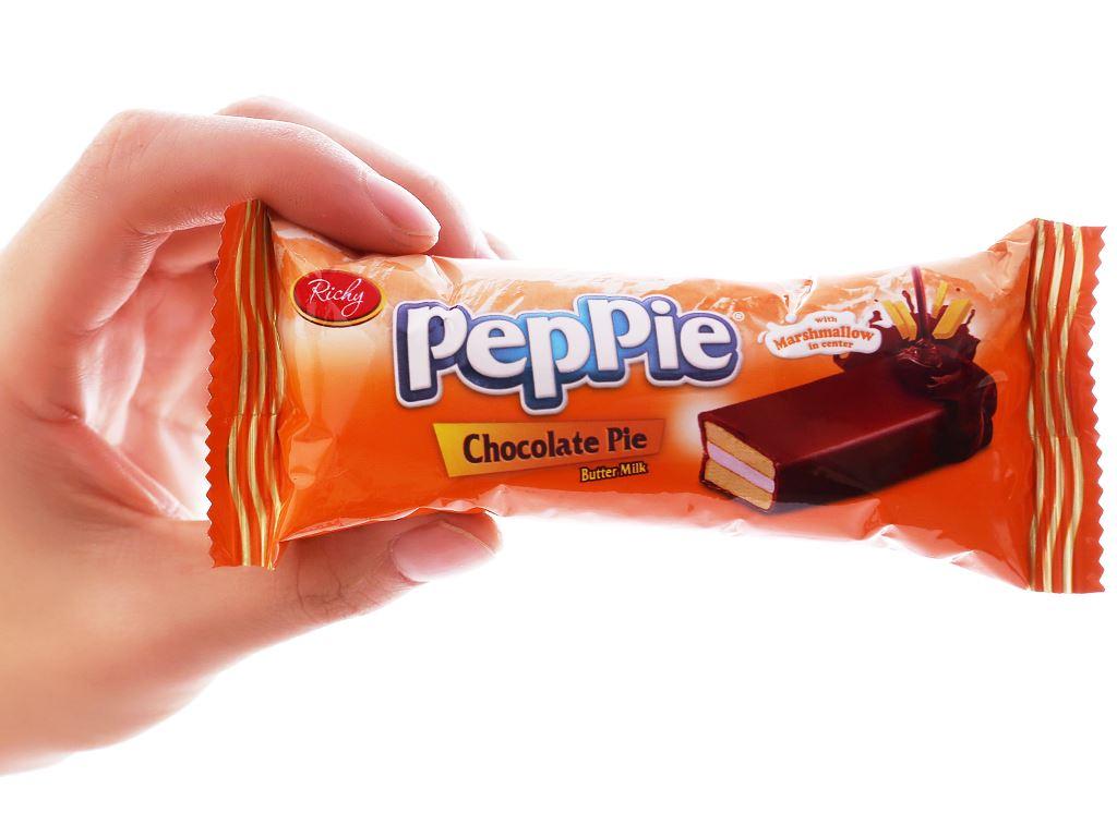 Bánh phủ socola kem bơ sữa Richy Peppie gói 216g 3