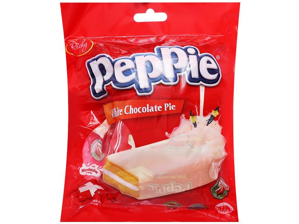Bánh phủ socola trắng Richy Peppie gói 216g 1