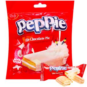 Bánh phủ socola trắng Richy Peppie gói 216g