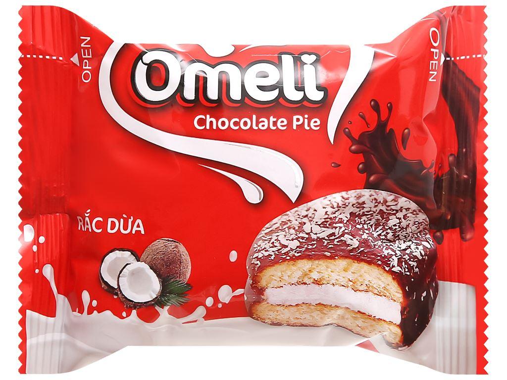Bánh Omeli Chocolate Pie rắc dừa hộp 150g 4