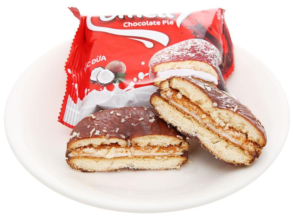 Bánh Omeli Chocolate Pie rắc dừa hộp 150g 6