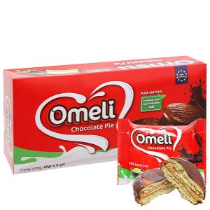 Bánh Omeli Chocolate Pie rắc dừa hộp 150g