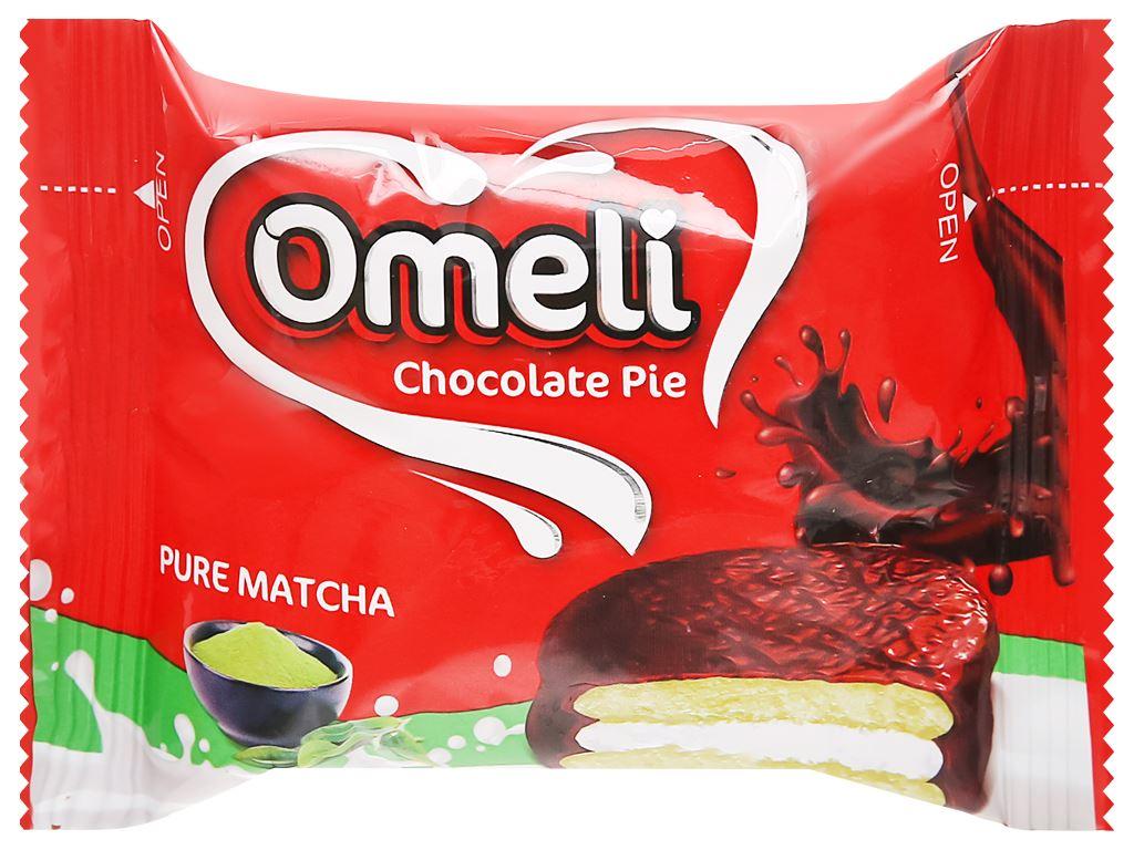 Bánh Omeli Chocolate Pie matcha hộp 150g 4