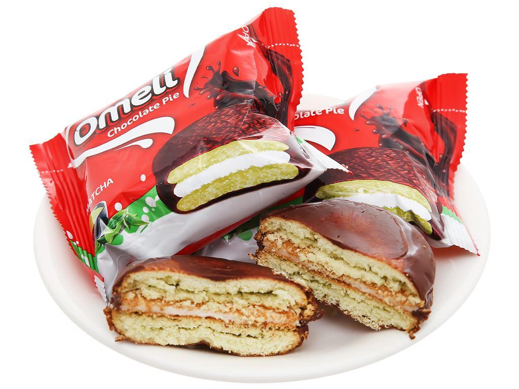 Bánh Omeli Chocolate Pie matcha hộp 150g 6