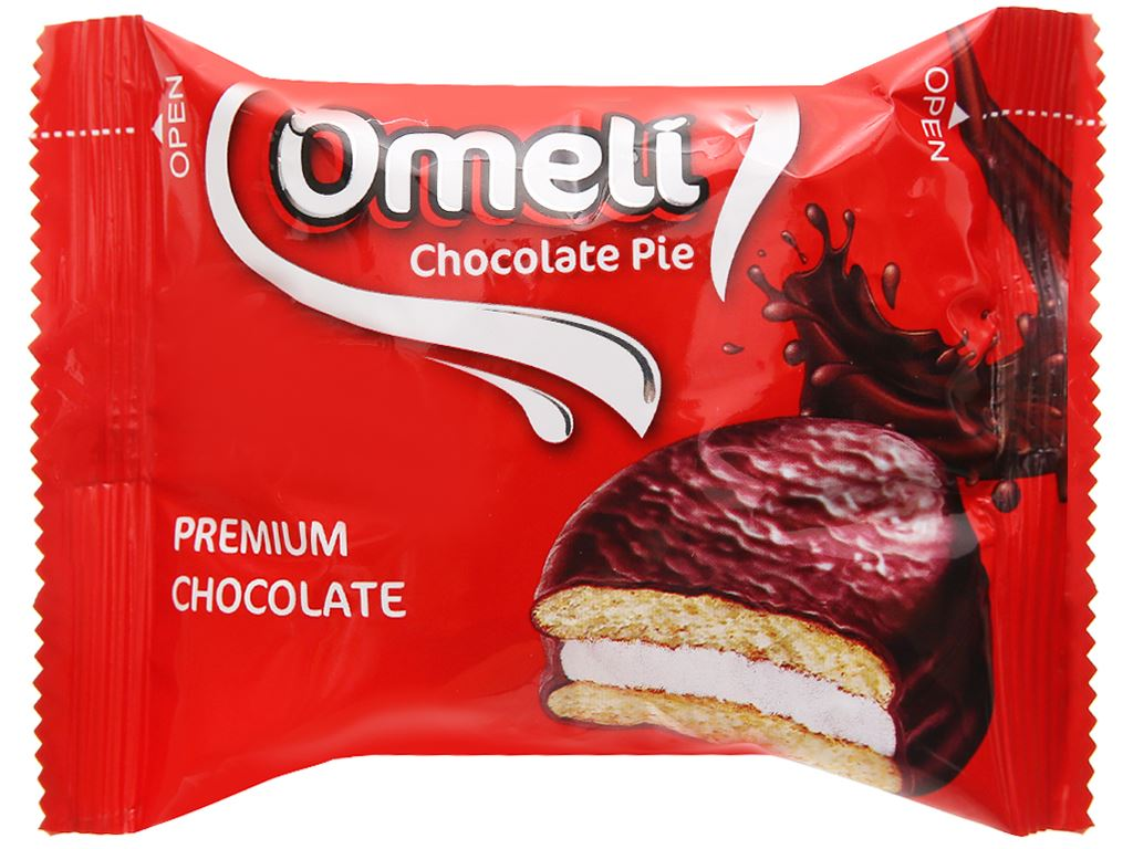 Bánh Omeli Chocolate Pie hộp 300g 4