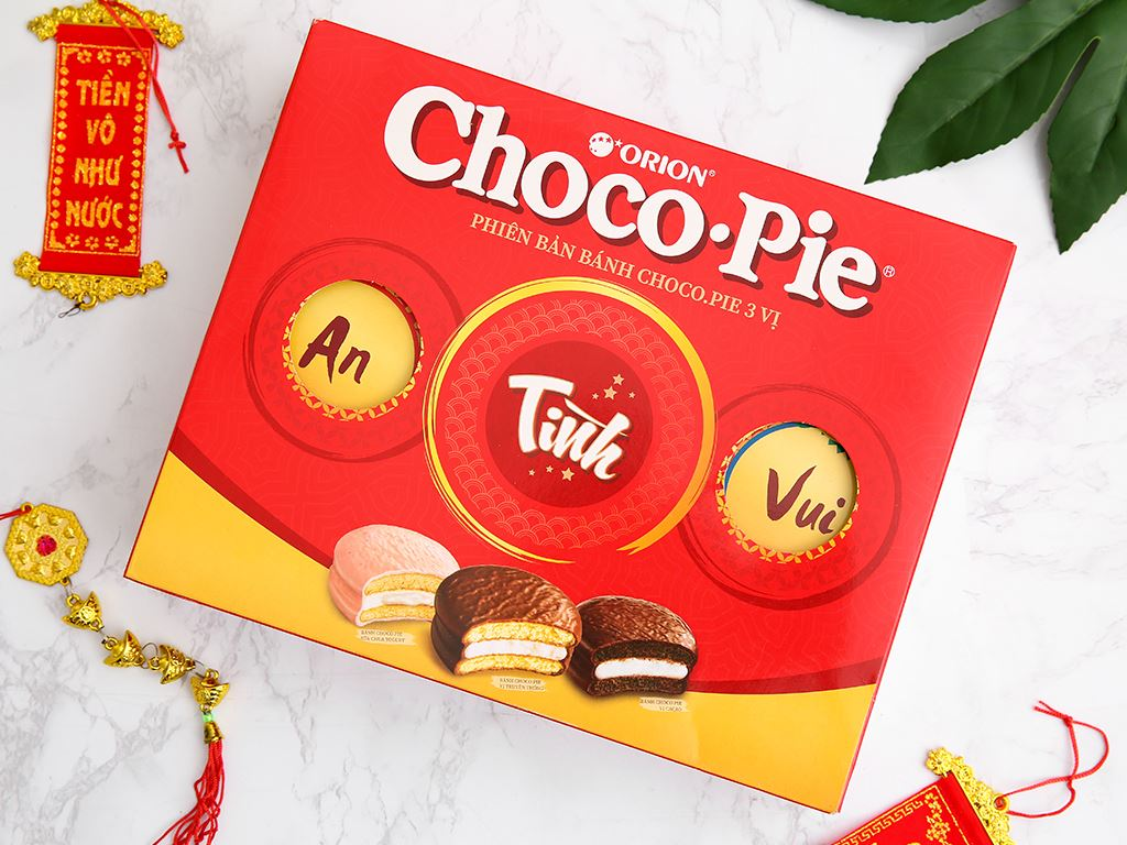 Bánh Choco-pie Orion 3 vị 372g 2