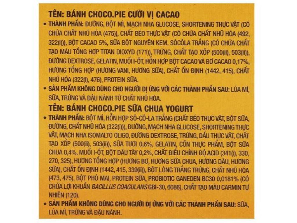 Bánh Choco-pie Orion 3 vị 372g 9