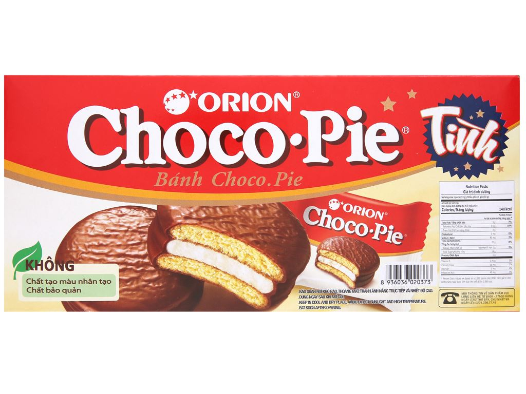 Bánh Choco-pie hộp 198g (6 cái) 6
