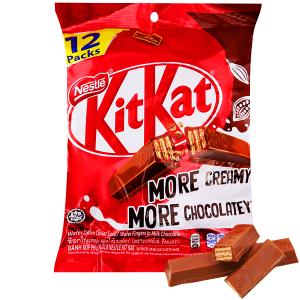Bánh xốp phủ socola KitKat gói 204g
