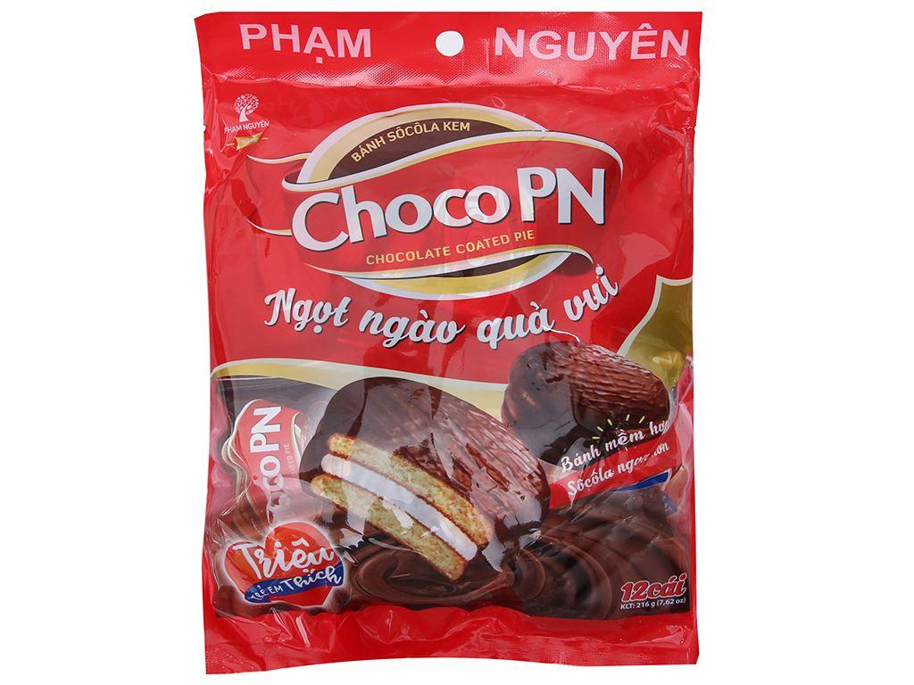 Bánh socola kem Choco PN gói 216g (12 cái) 2