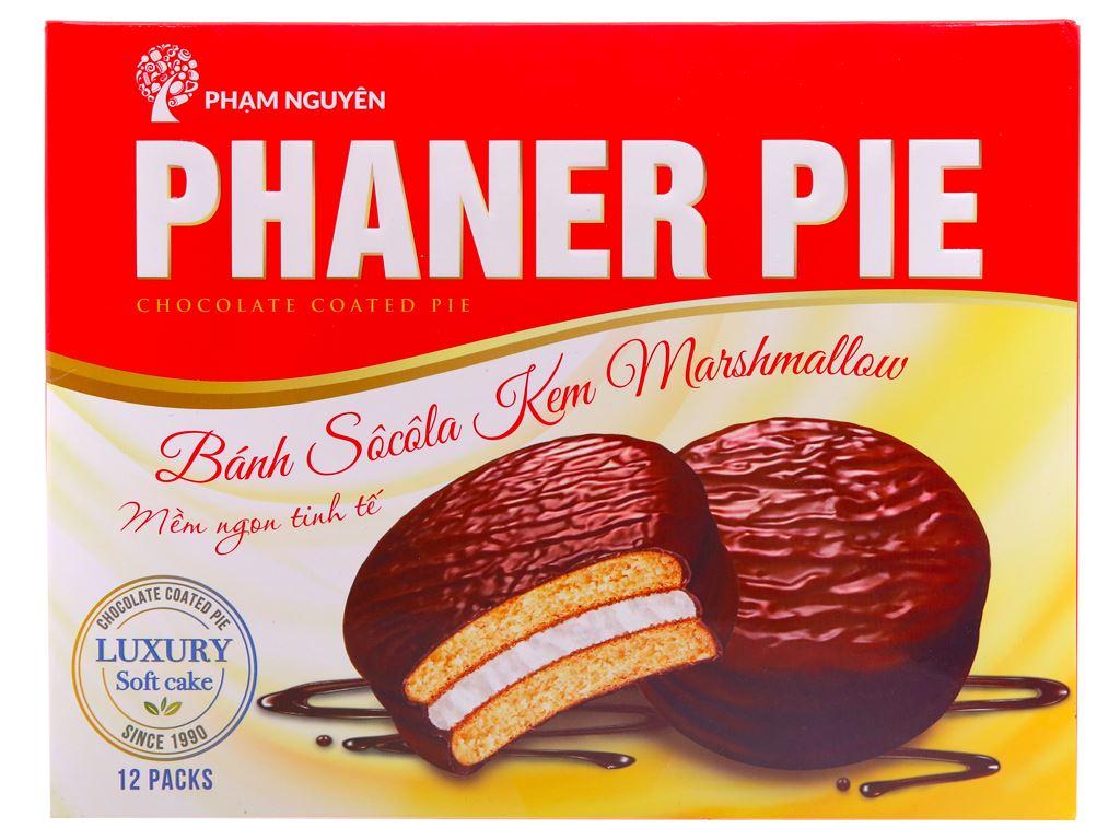 Bánh socola kem marshmallow Phaner Pie hộp 336g (12 cái) 1