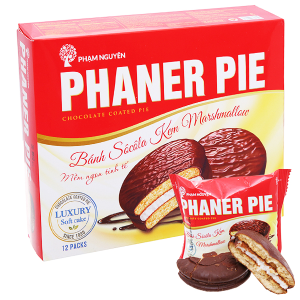 Bánh socola kem marshmallow Phaner Pie hộp 336g (12 cái)