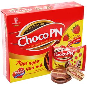 Bánh socola kem nhân marshmallow và mứt dâu Choco PN hộp 264g (12 cái)