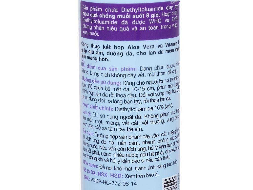Xịt chống muỗi Remos hương Lavender 150ml 4