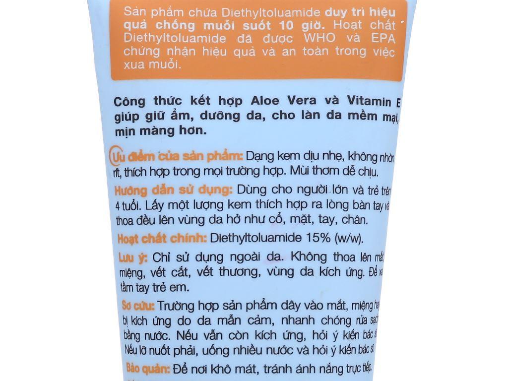 Kem chống muỗi Remos hương cam 70g 3