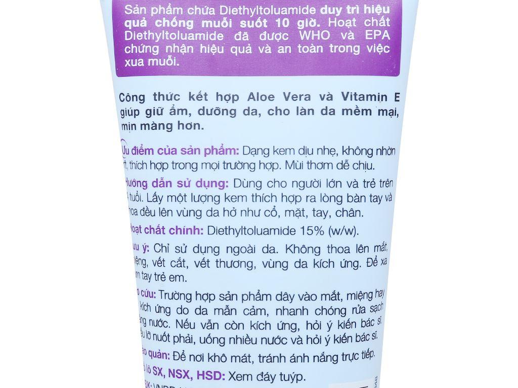 Kem chống muỗi Remos hương Lavender 70g 3