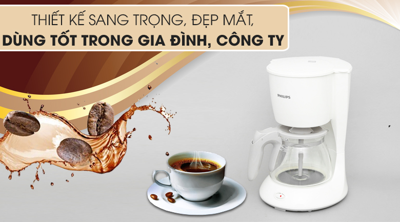 Sang đẹp - Máy pha cà phê Philips HD7447
