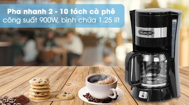 Pha cà phê nhanh - Máy Pha Cà Phê Delonghi ICM15210.1