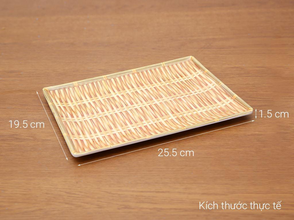 Khay nhựa úp ly vân gỗ 25.5x19.5 cm Điện Máy XANH AS25 (giao màu ngẫu nhiên) 12