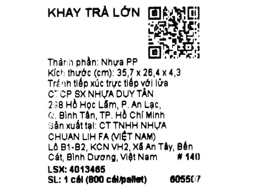 Khay nhựa úp ly 35.7cm x 26.4cm Duy Tân (giao màu ngẫu nhiên) 7
