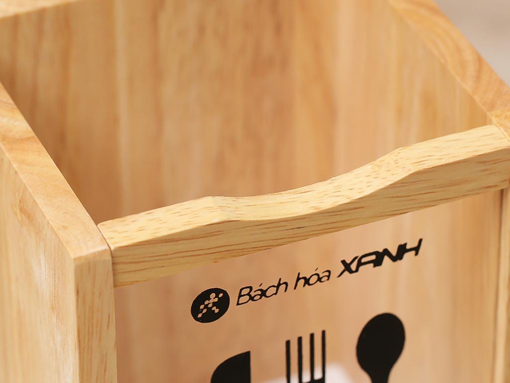 Ống đựng đũa đơn gỗ Bách hoá XANH ND853 4