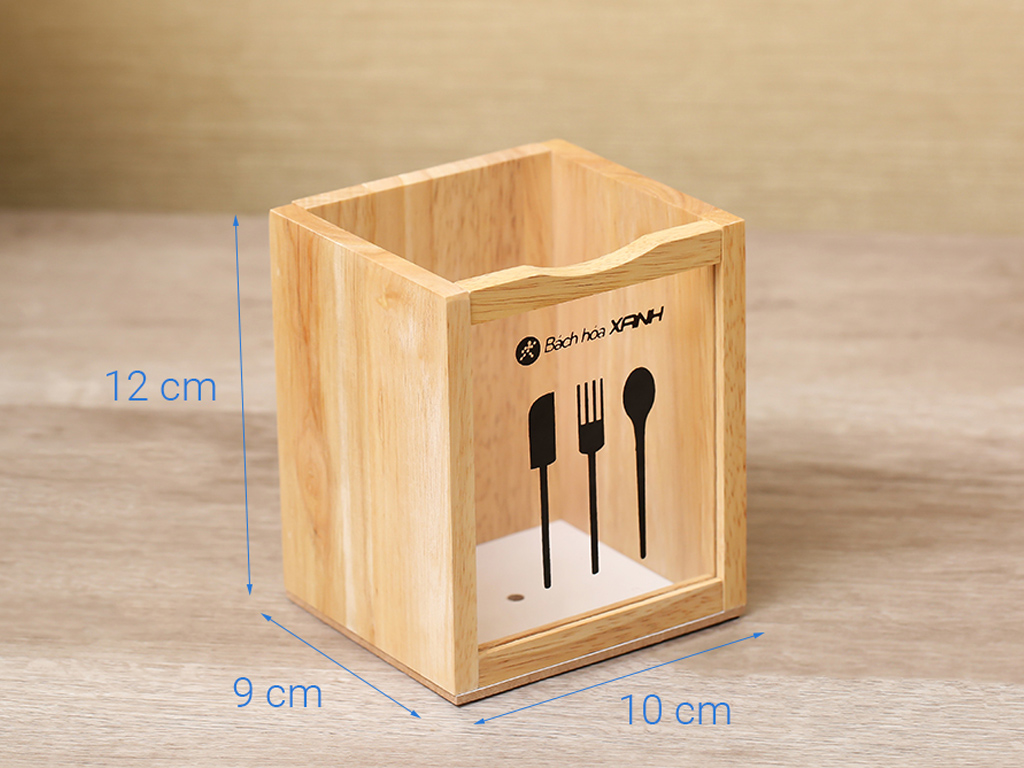 Ống đựng đũa đơn gỗ Bách hoá XANH ND853 6