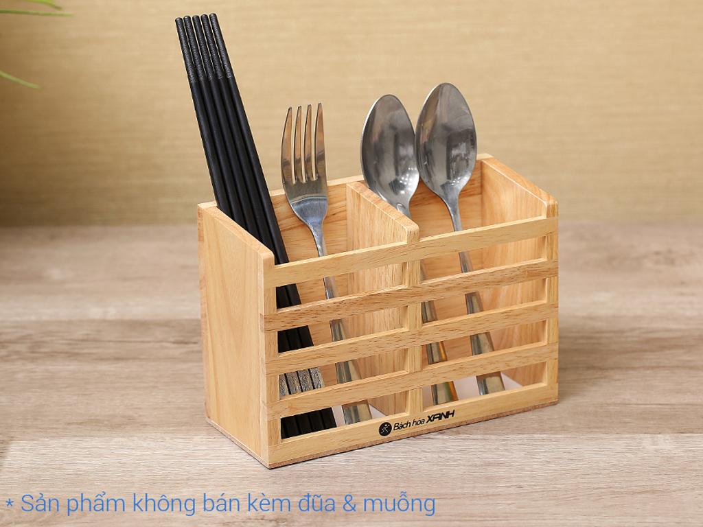 Ống đựng đũa đôi gỗ Bách hoá XANH ND852 1